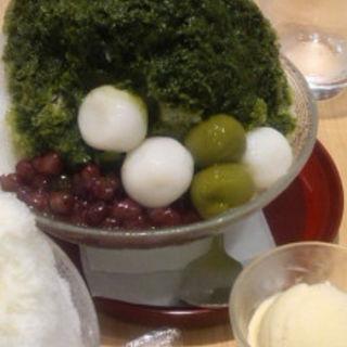 宇治抹茶のかき氷(よーじやカフェ 三条店 )