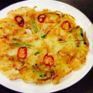 海鮮チヂミ(韓食堂 モクチャ (Mokcha))