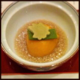 かぼちゃ饅頭の煮物(花がすみ (はながすみ))