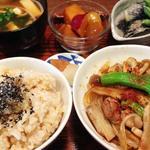 豚肉とごぼうとくずきり炒め定食(ぼんしいく )