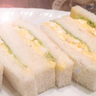 タマゴサンドウィッチ(ドリンクセット)(喫茶YOU)