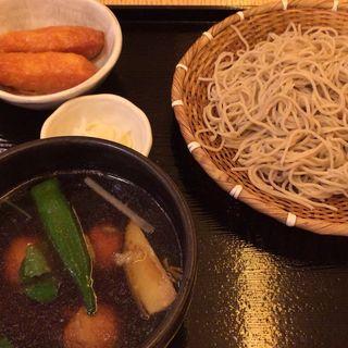 涼野菜と鶏団子のつけ汁蕎麦(石臼挽きそば 石楽 )