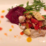 水蛸と野菜のマリネ パプリカソース