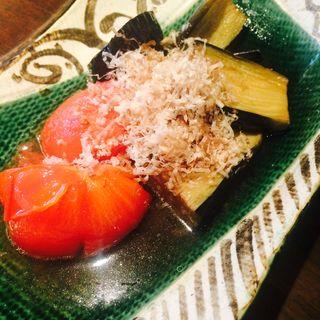 完熟トマトと茄子の揚げ浸し(円らく 所沢荘)