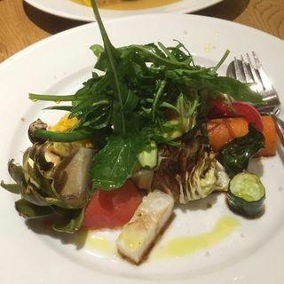 焼き野菜のバルサミコマリネ(ポークストック)