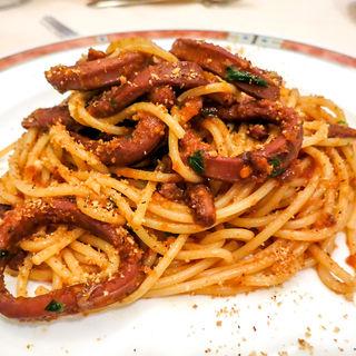石川産スルメイカとトマトのスパゲッティ(エリオ・ロカンダ・イタリアーナ (Elio Locanda Italiana))