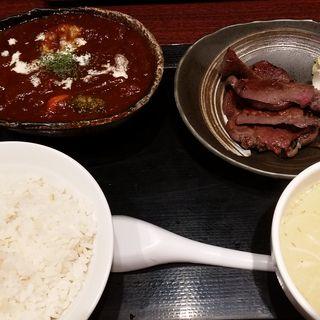 牛タンとタンシチュー定食(牛タン圭助 新宿三丁目 (ケイスケ))