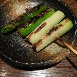 炭火野菜焼き アスパラ(鳥あさ )