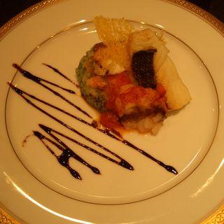 姫鯛のグリエリゾットトリコロール添え バルサミコ風味(ブラッセリー トモ (Brasserie Tomo))