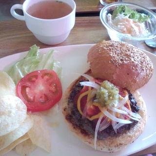 チーズバーガーセット(ブギーカフェ)
