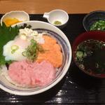 まぐろとサーモンのたたき丼(堂島とろ家 阪急三番街店 (とろや))