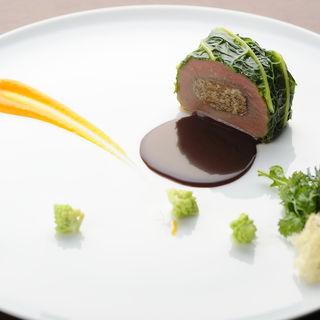 ニュージーランド産ラム肉のオーブン焼き(バーガンディー)
