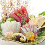 鮮魚三種盛り合わせ