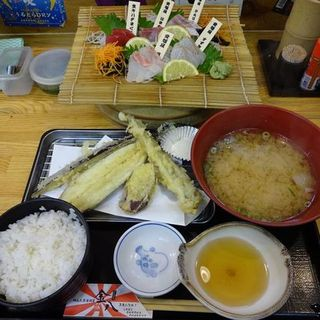 お造り天ぷら定食(金八 )