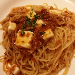 モッツァレラチーズのミートソースパスタ(KURA 渋谷店 (坐))