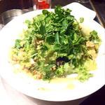 ジンジャーハニードレッシングのグリーンサラダ