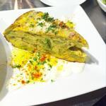 季節野菜のスペイン風オムレツ