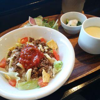 ランチAセット(タコライス)(Central Park Cafe)