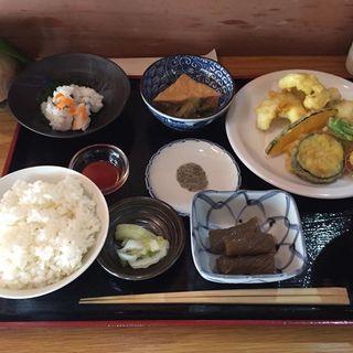 鱧天婦羅定食(旬菜 あだち )