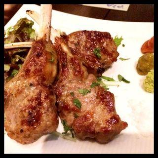 """スプリングラムチョップ""""のグリル1P(エンガワ (Dining Restaurant ENGAWA))"""