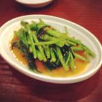 空芯菜のサンバル(または腐乳)炒め