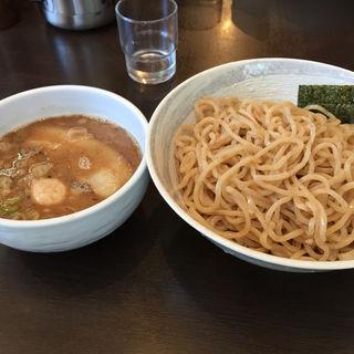 煮魚出汁つけめん(味玉)+ランチ大盛り(美豚)