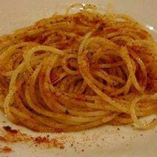 マグロのカラスミのスパゲッティーニ(ウナボルタ (Una Volta))