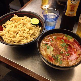 【2015夏季限定】スパイシー 紅つけ麺(麺創研かなで 紅 (くれない))
