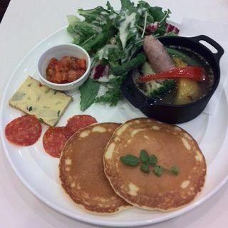 煮込み野菜のポトフパンケーキプレート(バター プレミアム ららぽーと横浜店 (Butter Premium))