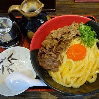 肉釜玉うどん(Ah-麺)