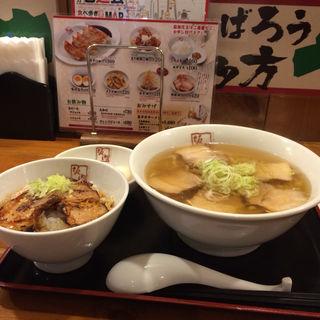 炙り焼豚セット(坂内食堂 京都店 (喜多方ラーメン))