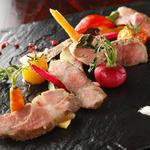 オーガニック野菜とイベリコ豚の肩ロースステーキ