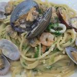 魚介とアオサ海苔のクリームパスタ