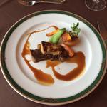 フォアグラのソテーと牛ロース肉