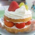 苺サンドショートケーキ