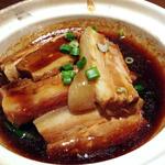 豚バラと青菜の角煮