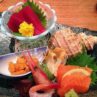 刺身5点盛り(北海道料理 札幌 銀鱗)