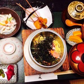 釜めし膳(かに)(創作茶屋 まきの木 )