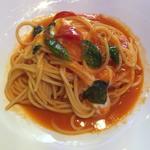 静岡アメーラトマトとモッツァレラ・バジルのスパゲッティ ランチコース(Brasserie D & Sweetroom)