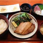 焼き魚刺身定食