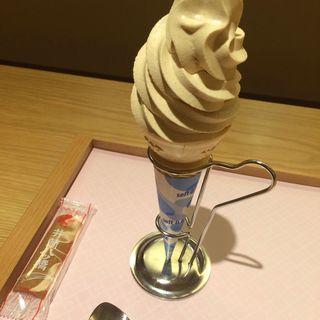 ニッキのソフトクリーム(井筒八つ橋本舗)