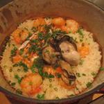 牡蠣とエビの炊込み御飯
