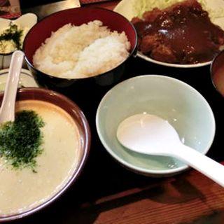 とんかつむぎとろセット定食(大)(どん平 (どんべい))