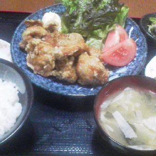 から揚げ定食(かまどのご飯 喜乃国屋)