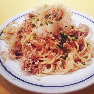 牛肉と長ネギのポン酢炒めスパゲティ(関谷スパゲティ )