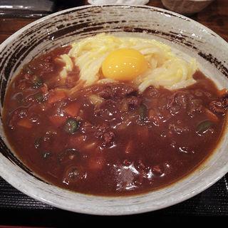 カレー釜玉うどん(うどん居酒屋 麦笑 (うどんいざかやムギワラ))
