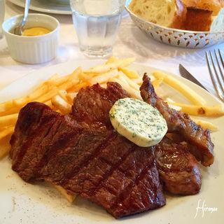 牛肩ロースステーキ メートルドテルバター(ブション (Le Bouchon))