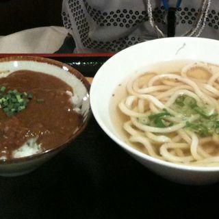 カレー丼+昆ぶ禅うどん(昆ぶ禅日本橋店)