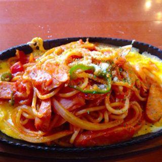 懐かしの鉄板ナポリタンスパゲッティ(ブリオカフェ)