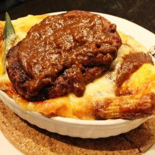 焼ドライカレーオムハンバーグ3種のとろ~りチーズ(ラフラフ)